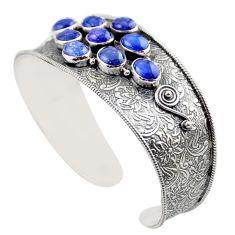 925 sterling silver 21.51cts natural blue tanzanite adjustable bangle r30753
