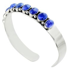 19.10cts natural blue tanzanite 925 sterling silver adjustable bangle d47189