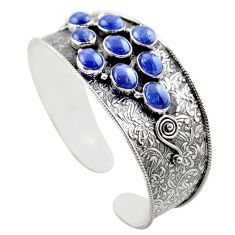 19.52cts natural blue tanzanite 925 sterling silver adjustable bangle r30741