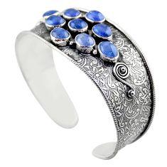 19.22cts natural blue tanzanite 925 sterling silver adjustable bangle r30748