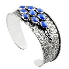 19.41cts natural blue tanzanite 925 sterling silver adjustable bangle r30751