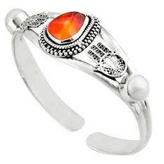 14.72cts natural multi color mexican fire opal silver adjustable bangle d47235