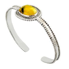 8.42cts natural yellow opal 925 sterling silver adjustable bangle jewelry d47237