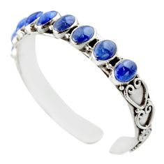 Sterling silver 20.03cts natural blue tanzanite oval adjustable bangle d47183