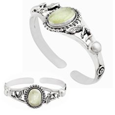 15.18cts natural libyan desert glass 925 silver adjustable bangle jewelry p82651