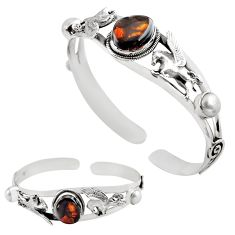 14.18cts natural multi color mexican fire agate silver adjustable bangle p82672