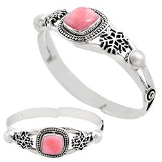14.71cts natural pink opal pearl 925 sterling silver adjustable bangle p82605