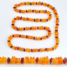 925 silver 82.17cts natural baltic amber (poland) necklace beads jewelry c3244