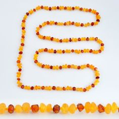 925 silver 39.10cts natural baltic amber (poland) necklace beads jewelry c3253