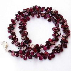 161.66cts NATURAL POMEGRANATE GARNET 925 SILVER NECKLACE BEADS JEWELRY H20480