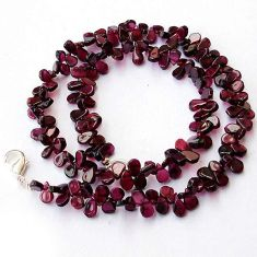 POMEGRANATE NATURAL RED GARNET 925 SILVER NECKLACE BEADS JEWELRY H20478