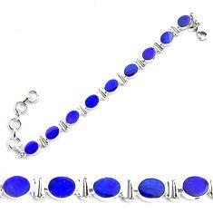 925 silver 23.21cts natural blue doublet opal australian tennis bracelet p87856