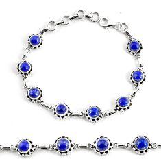 925 silver 10.31cts natural blue lapis lazuli tennis bracelet p68100