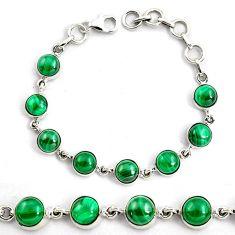 925 silver 19.87cts natural malachite (pilot's stone) tennis bracelet p87835