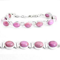 925 silver 38.68cts natural purple phosphosiderite tennis bracelet p39044