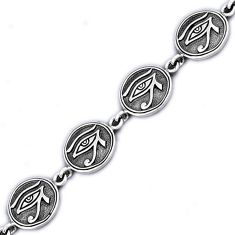 925 sterling silver eye of horus the eye of ra link bracelet jewelry h54067