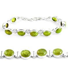 925 sterling silver 38.29cts natural green garnet tennis bracelet p40008