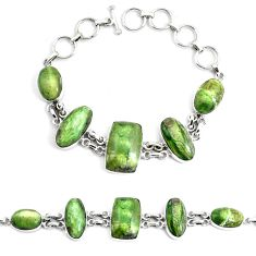 925 sterling silver natural green swiss imperial opal tennis bracelet p46008