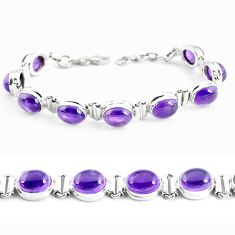 925 sterling silver 39.91cts natural purple amethyst tennis bracelet p48144