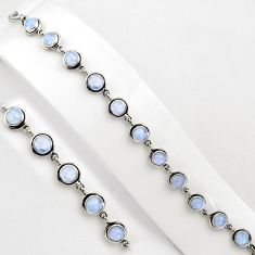 925 sterling silver 22.13cts natural rainbow moonstone tennis bracelet p89078