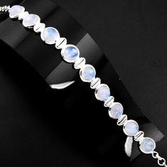 925 sterling silver 28.74cts natural rainbow moonstone tennis bracelet p89644