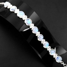 925 sterling silver 30.48cts natural rainbow moonstone tennis bracelet p89652