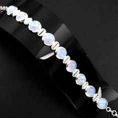 925 sterling silver 30.52cts natural rainbow moonstone tennis bracelet p89656