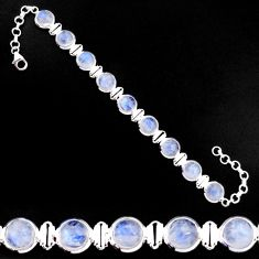 925 sterling silver 28.29cts natural rainbow moonstone tennis bracelet p92894