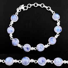 925 sterling silver 33.29cts natural rainbow moonstone tennis bracelet p92904