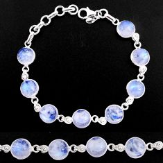925 sterling silver 32.70cts natural rainbow moonstone tennis bracelet p92918
