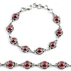 925 sterling silver 19.34cts natural red garnet tennis bracelet p68089