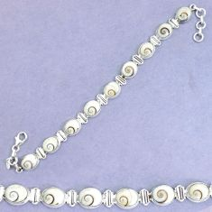 925 sterling silver 35.77cts natural white shiva eye tennis bracelet p34629