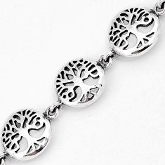 925 sterling silver round tree of life family link bracelet jewelry h54061