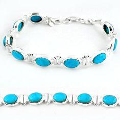 925 sterling silver natural blue magnesite tennis bracelet jewelry b4703
