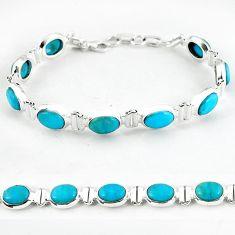 Natural blue magnesite 925 sterling silver tennis bracelet jewelry b4707