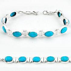 925 sterling silver natural blue magnesite tennis bracelet jewelry b4708