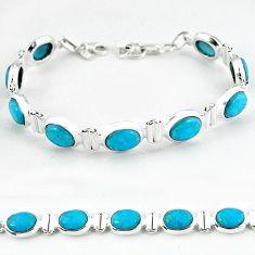 925 sterling silver natural blue magnesite tennis bracelet jewelry b4712
