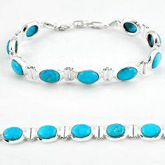 Natural blue magnesite 925 sterling silver tennis bracelet jewelry b4713