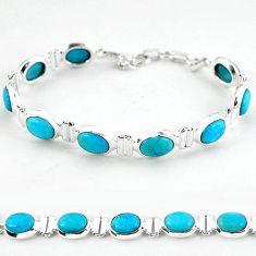 925 sterling silver natural blue magnesite tennis bracelet jewelry b4716