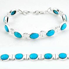 925 sterling silver natural blue magnesite tennis bracelet jewelry b4720
