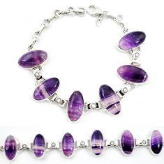 Natural multi color fluorite pearl 925 sterling silver tennis bracelet d13305