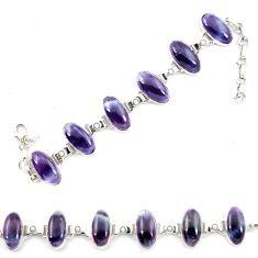 Natural multi color fluorite pearl 925 sterling silver tennis bracelet d13306