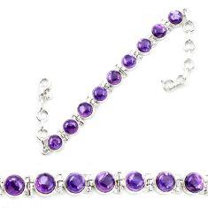 Natural multi color fluorite 925 sterling silver tennis bracelet jewelry d13314