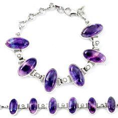 Natural multi color fluorite 925 sterling silver bracelet jewelry d13830