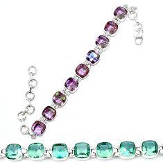 Purple alexandrite (lab) 925 sterling silver tennis bracelet jewelry d13836