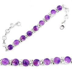 Natural multi color fluorite 925 sterling silver tennis bracelet jewelry d13841