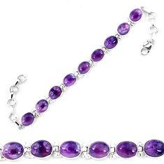 Natural multi color fluorite 925 sterling silver tennis bracelet jewelry d13842