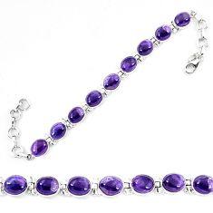 Natural multi color fluorite 925 sterling silver tennis bracelet jewelry d13843