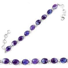925 sterling silver natural multi color fluorite tennis bracelet jewelry d13844