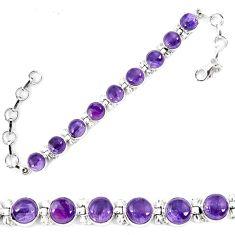 Natural multi color fluorite 925 sterling silver tennis bracelet jewelry d13845